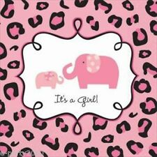 SWEET SAFARI GIRL SMALL NAPKINS (36) ~ Baby Shower Party Supplies Beverage Pink