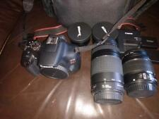 Canon eos rebel t7 dslr camera 18-55 and 75-300