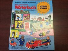 Vintage Richard Scarry German/English/French Dictionary 1980 Hardcover