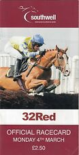 Racecard - Southwell 4th March 2013