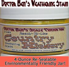 Country Hickory Weathering Stain-4oz Doctor Ben's Scale Consortium Craftsman