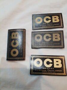 4 Packs OCB RJ Reynolds Smoking Tobacco Rolling Papers Vintage