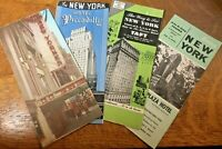 Lot 1950's New York City Hotel Fold Out Brochures Taft Piccadilly Barbizon NYC