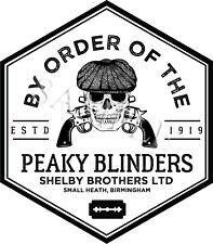 PEAKY BLINDERS SKULL DIAMOND LOGO VINYL STICKER CAR DECAL U.K POST ONLY