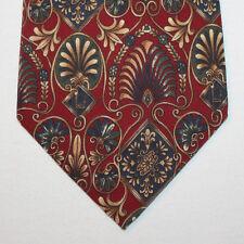 """NEW 55"""" Metropolitan Museum of Art Silk Neck Tie Red w Victorian Florals 1413"""