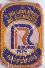 Roadway Express 1979 1 million miles Harrisburg, PA drivers patch 4X2-3/4 inch