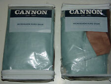 CANNON MICRO SUEDE Euro Sham, 100% Polyester  26 x 26in  Pillow Case, NEW!