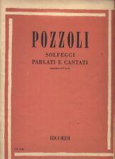 POZZOLI - Solfeggi parlati e cantati appendice al 3° Corso - SPARTITO SHEET
