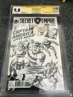 Secret Empire #1 (2017) - CGC 9.8 SS - Stan Lee Box Sketch - signed Mike Perkins