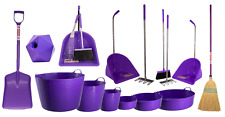 RED GORILLA TUBTRUG PURPLE HORSE TUBS POOP SCOOPS RAKE BRUSH SHOVEL SET FEED