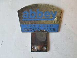 Abbey caravan owners club badge.caravan club badge.motor club. grill badge.