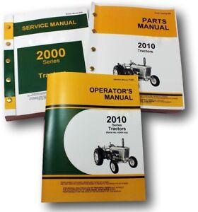 SERVICE MANUAL SET FOR JOHN DEERE 2010 TRACTOR PARTS OPERATORS OWNERS SHOP