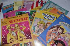 Lot of 11 Uncut Paper Dolls Books, Barbie & Others 447