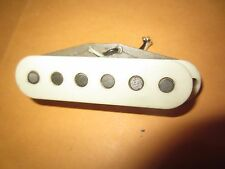 Vintage 1976 Fender Stratocaster Electric Guitar Pickup w/ White Cover Nice