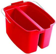 Rubbermaid Commercial Products Mop Bucket Pail Double Cleaning Tool Red Plastic