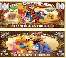 Pooh Bear & Friends - Disney Cartoon Character Million Dollar Novelty Money