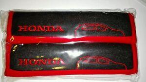 GENUINE BLACK RED SPORT SEAT SAFETY NICE BELT COVER SHOULDER SUPPORT PAD  HONDA