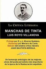 Manchas de Tinta, Luis Royo Villanova, Coleccion La Critica Literaria Por El Cel