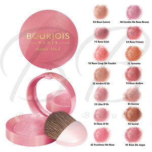 BOURJOIS Little Round Pot Blush Blusher with Mirror and Brush *ALL SHADES* NEW