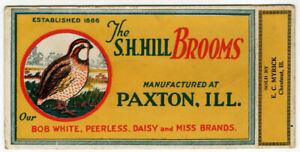Vintage Advertising Ink Blotter S. H. Hill Brooms Bob White Peerless Daisy Miss