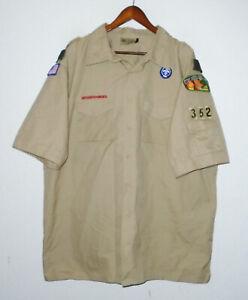 BOY SCOUTS Of America POPLIN Uniform Shirt BSA #352 Scout Adult Mens : 2XL XXL