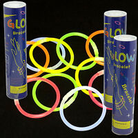 """300 PACK of 8"""" Glow Sticks Bracelets Neon Colors Party Favors - FREE SHIPPING"""