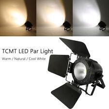 100W LED Stage Par Light COB Cool/Warm/Nature White DMX512 W/ Barn Panel