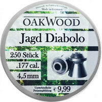 Jagd Diabolo 4,5mm Cal.177, 250 Stück glatte leichte Luftgewehrkugeln Munition