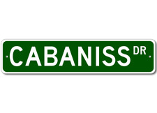 CABANISS Street Sign - Personalized Last Name Sign