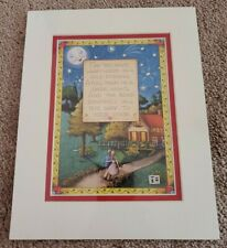 "New Mary Engelbreit Matted Picture/Print - 8X10 - ""Warm Words"""