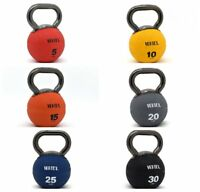 Kettlebell w/ Metal Handle Medicine Rubber Ball Fitness Elite VERTEX