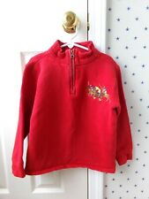 Polo RALPH LAUREN CLASSIC Boys Red Big Pony Dual Match Half Zip Pullover Size 7