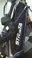 strata plus stand golf bag shoulder strap lightweight