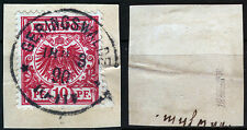 DR 47 aa GERINGSWALDE auf Briefstück, 10 Pf. magenta, gepr. Wiegand BPP