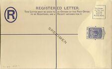 Seychelles Registered Envelope 1938 Kgvi 20c Blue H & G 4a Specimen
