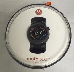 Moto 360 SPORT 45mm Smart Watch- Black
