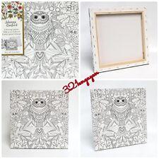 "Johanna Basford 12"" X 12"" Secret Jungle Coloring Canvas - Owl"