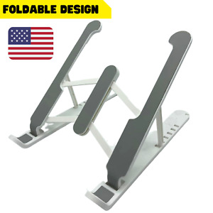 Adjustable Foldable Laptop Stand Fr Desk Portable Notebook Riser Computer Holder
