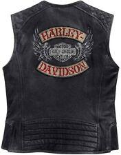 Harley Davidson Mens Knuck Distressed Leather Vest EC