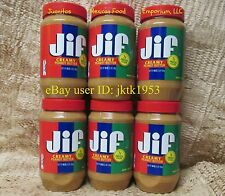 JIF CREAMY PEANUT BUTTER - SIX PACK of 48 OUNCE JARS