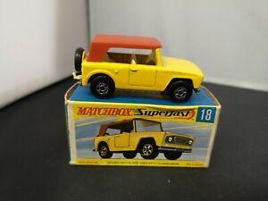 P882-MATCHBOX SUPERFAST No18A FIELD CAR WITH ORIGINAL BOX