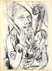 "Original 1920 Lithograph MAX BECKMANN ""Pierrot and Mask"" Ed. 600"