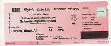 Orig.Ticket   WM Qualifikation  08.09.2004   SCHWEIZ - IRLAND  !!  SELTEN