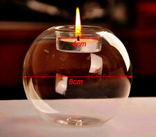 Round Glass Floating Candle Holder Tealight Stand Cup Wedding Dining Party Decor