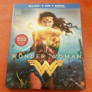 Wonder Woman Blu-ray Gal Gadot  Chris Pine   Robin Wright  Zach Snyder  Thewlis