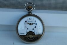 Antique Vintage Old Hebdomas 8 Days Swiss Made Pocket Watch with Porcelain Dial.