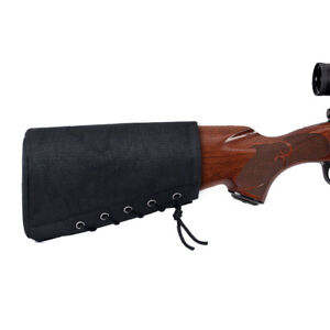 Black Color Nylon Adjustable Tactical Shot Gun Rifle Cheek Stock Rest Pouch Bag