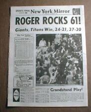 1961 newspaper reprint ROGER MARIS hits 61st Home Run - new single season record
