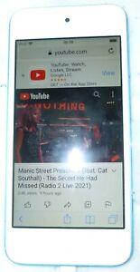 Apple iPod touch 6th Gen white/Blue (16GB) - GWO - fine crack on screen