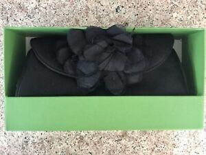 Kate Spade New York Tarrytown Maria Black Silk Evening Clutch Bag Flower